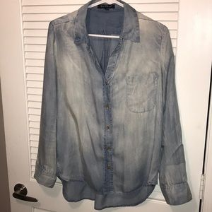 Button down chambray long sleeve